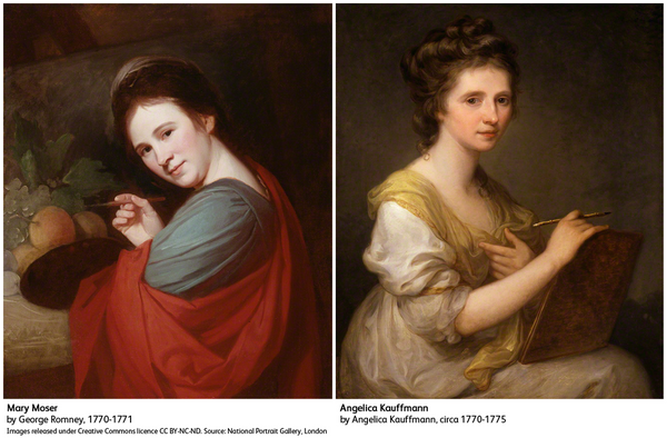 Angelica Kauffman and Mary Moser