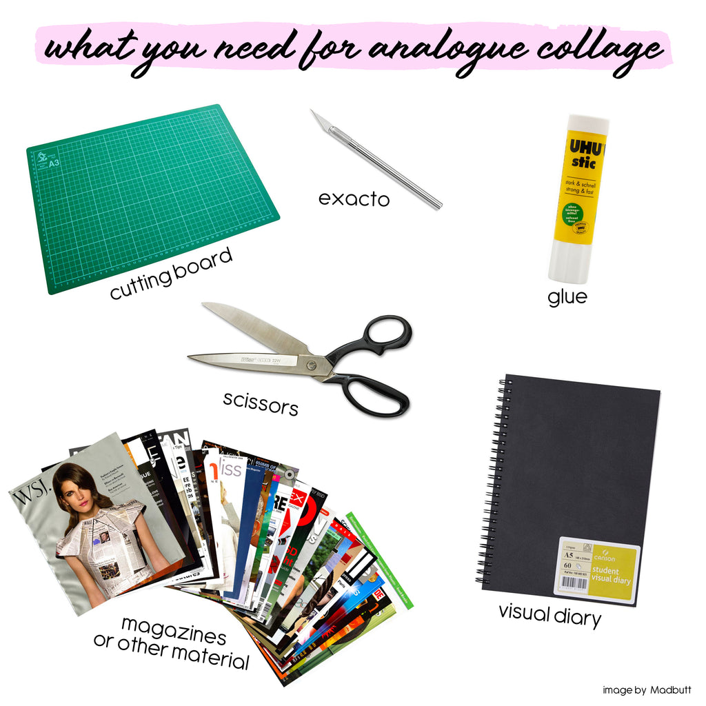 What You Need To Collage / Madbutt / Collage Art + Artist