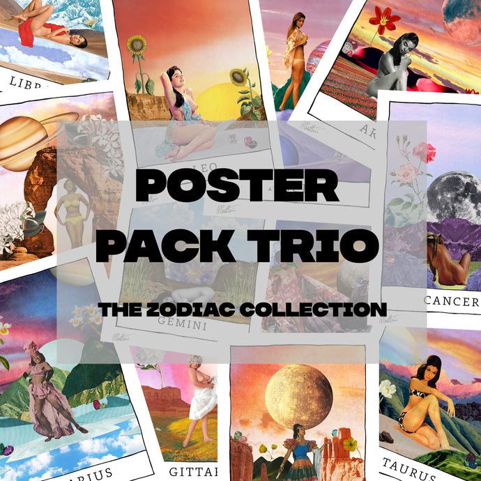 Poster Pack Trio (The Zodiac Collection) - Madbutt | Australian Collage Artist & Fine Art