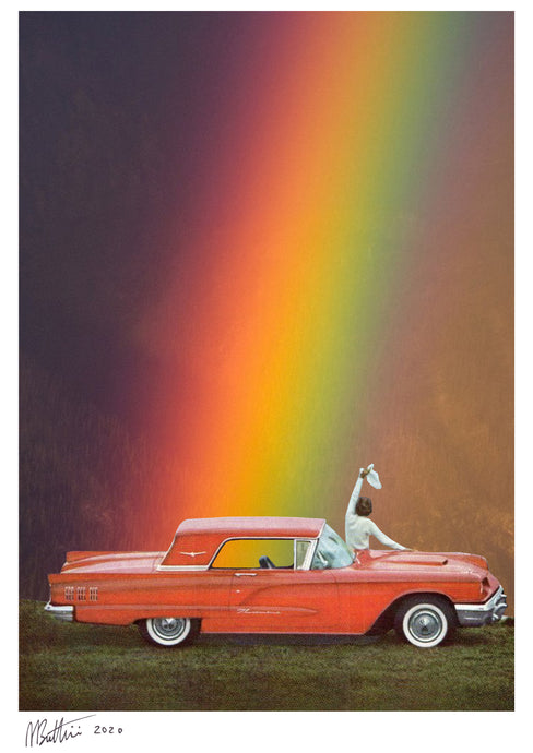 Rainbow - Madbutt | Australian Collage Artist & Fine Art