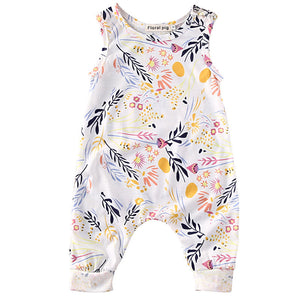 Summer Floral Girl Romper Playsuit
