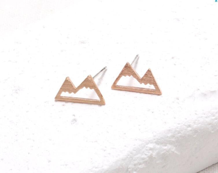 Snow Mountain Stud Earrings