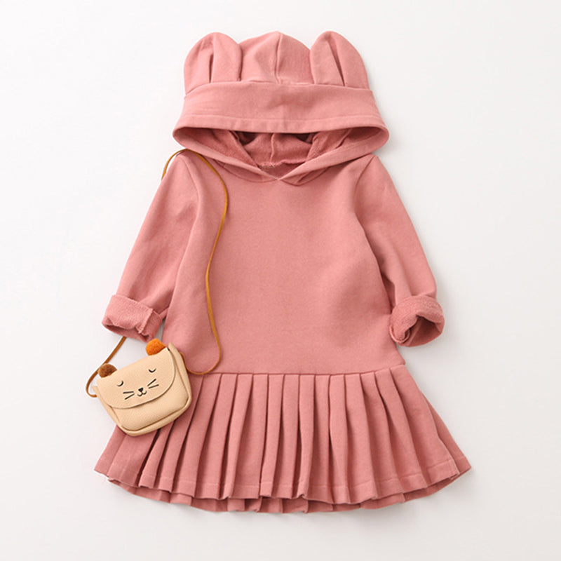 Bunny Ears Sweatshirt Dress