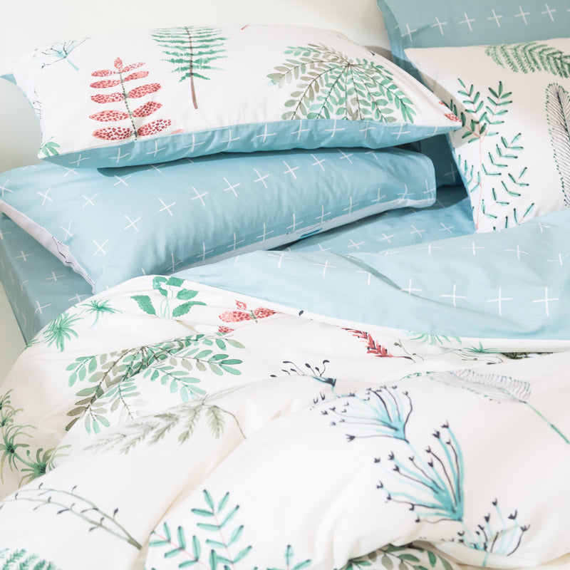 Svetanya Leaves Print Duvet Cover Set