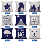 Nursery Navy Linen Pillow Case