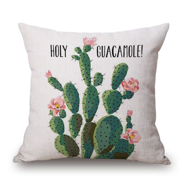 Green cactus Pillow Case
