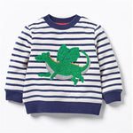 Dragon Striped Sweatshirt