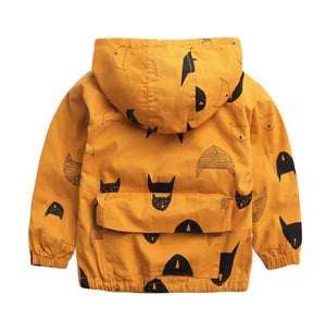 Black Cat Coat  (Yellow, Orange, Fleece Lining Option)