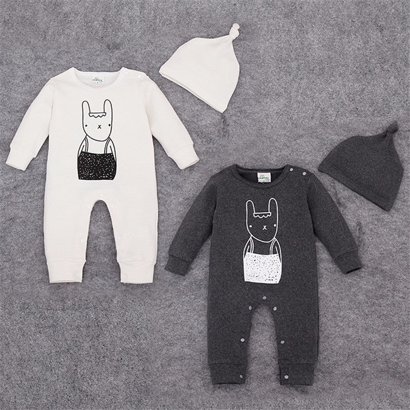 Monochrome Baby Rompers