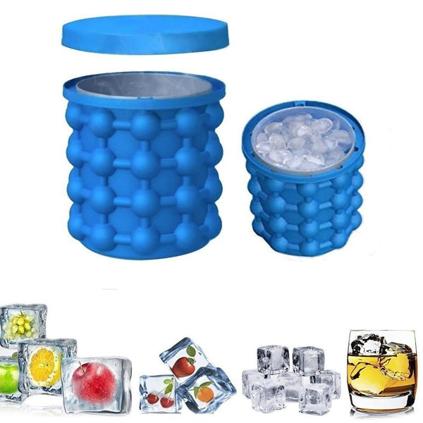 Ice cube silicone ice bucket