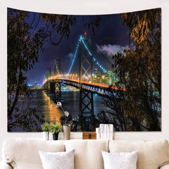 3D building wall hanging tapestry