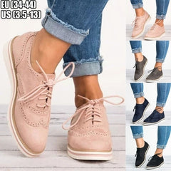 Women Oxfords Shoes Casual Round Toe Chaussures