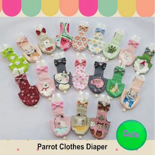 Handmade Pet Parrot Clothes Diaper