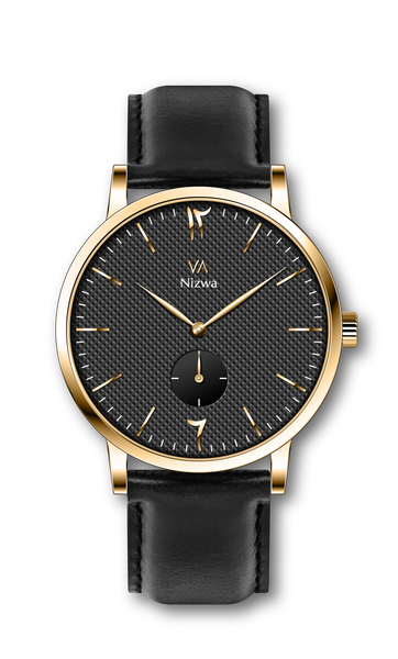 Nizwa Watches Collection Oud : Montres Nizwa Black/Gold