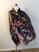 Midnight Sky Butterfly  Silk Scarf