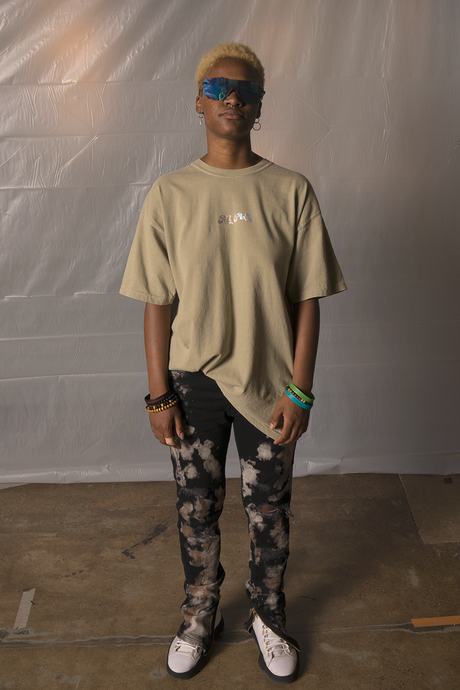 Badge Tee - Khaki