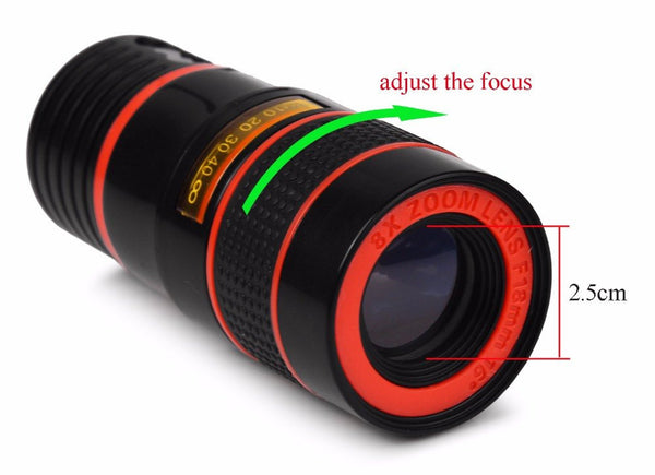Universal 8x Optical Zoom Phone Camera Lens