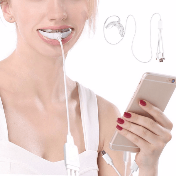 LED Teeth Whitening Kit (LED + Wipes + Pens)