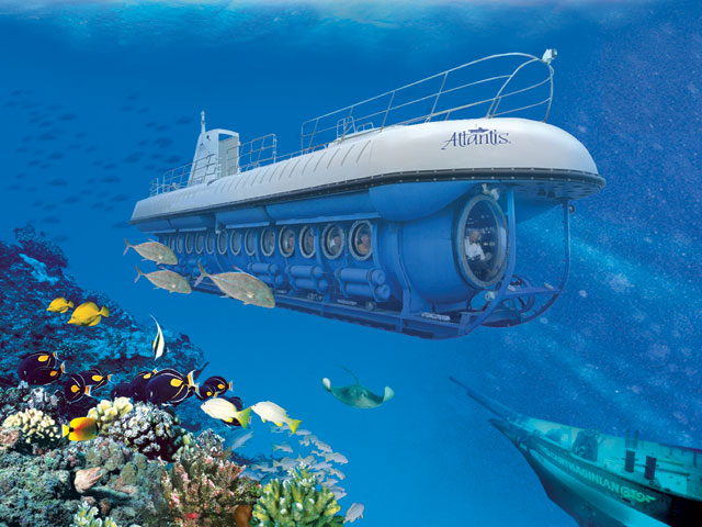 Atlantis Submarine Tour, Barbados is a tour aboard a submarine for the adventure and enjoy the beauty of the underwater world of Barbados. In Atlantis Submarine, you can witness shipwrecks, amazing sea life of Caribbean and coral formations.