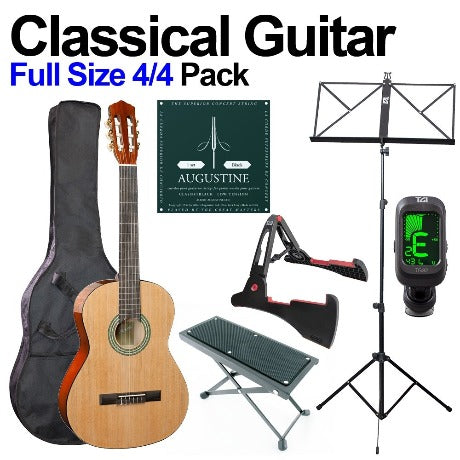 Classical Guitar Beginners Bundle (All sizes available - 4/4 pictured)