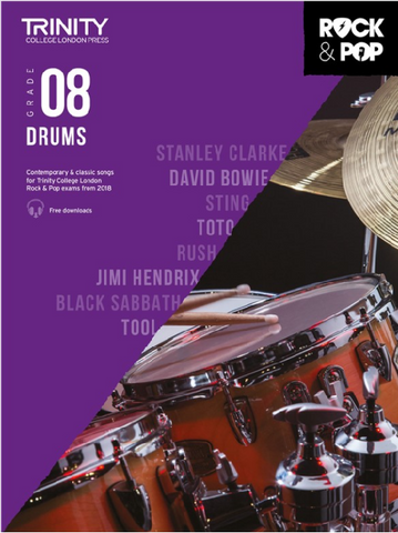 Trinity College London: Rock & Pop Drums - Grade 8 (2018)