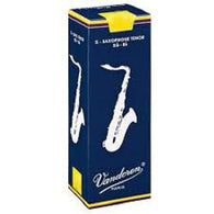 Vandoren Traditional Tenor Saxophone Reeds - Box of 5 (Various strengths)