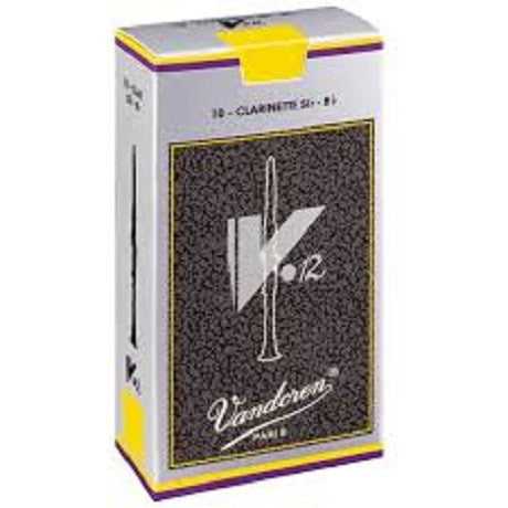 Vandoren 'V12' Clarinet Reeds - Box of 10 (Various strengths)
