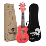 Octopus Soprano Ukulele - Natural/Metallic/Matt/Flag/Kane series