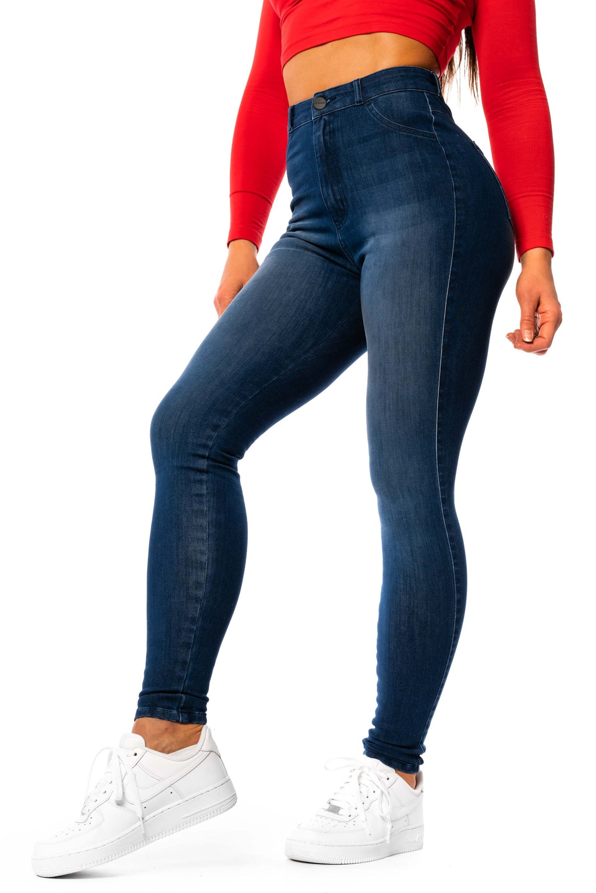 Womens 360 High Waisted Fitjeans - Deep Indigo