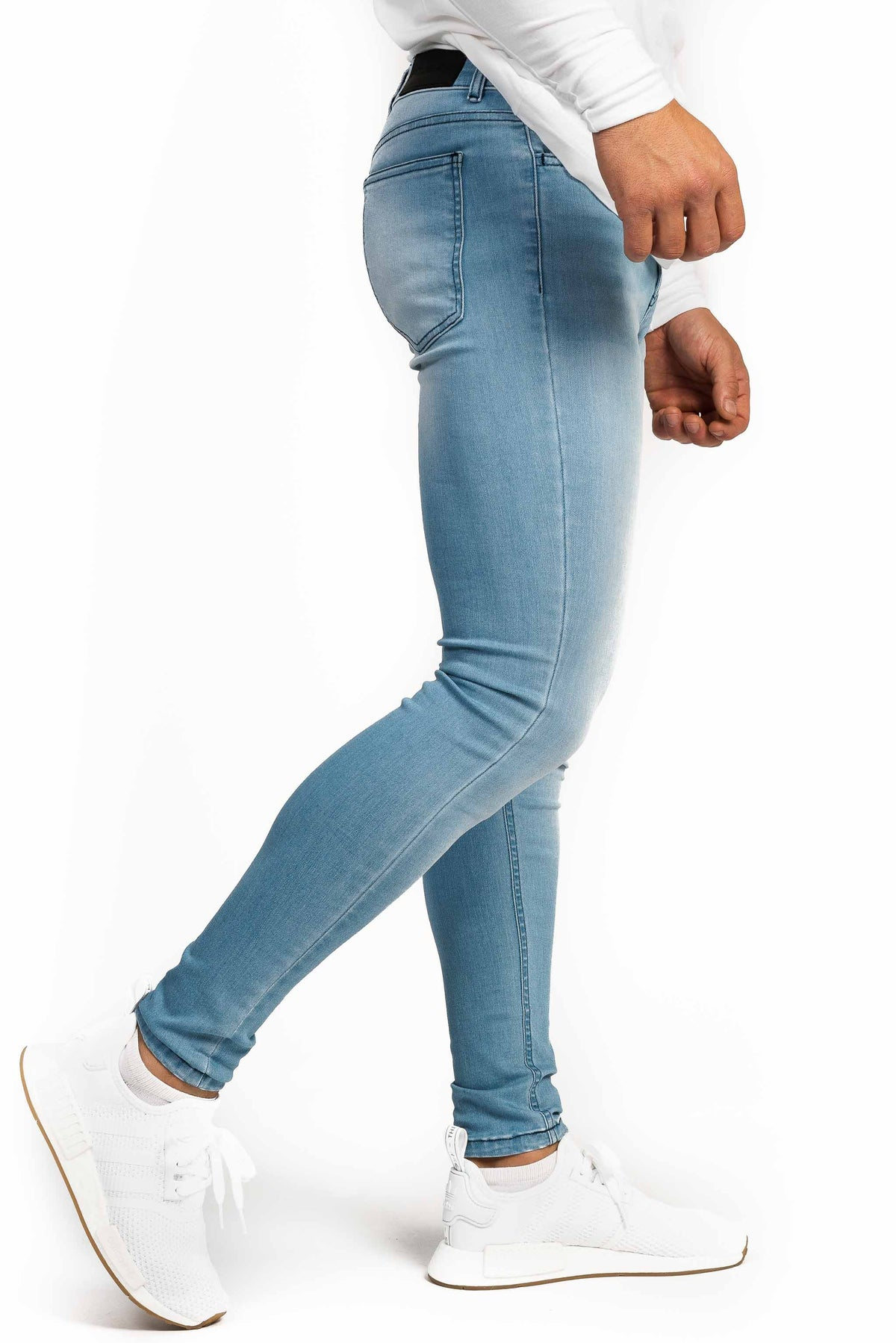 Mens Regular Fitjeans - Bleach Blue - Fitjeans Norge