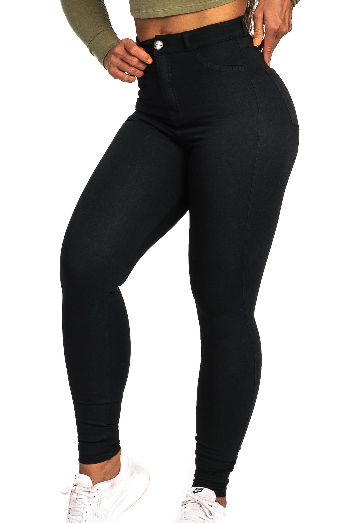 Womens 360 High Waisted Fitjeans - Black - Fitjeans Norge