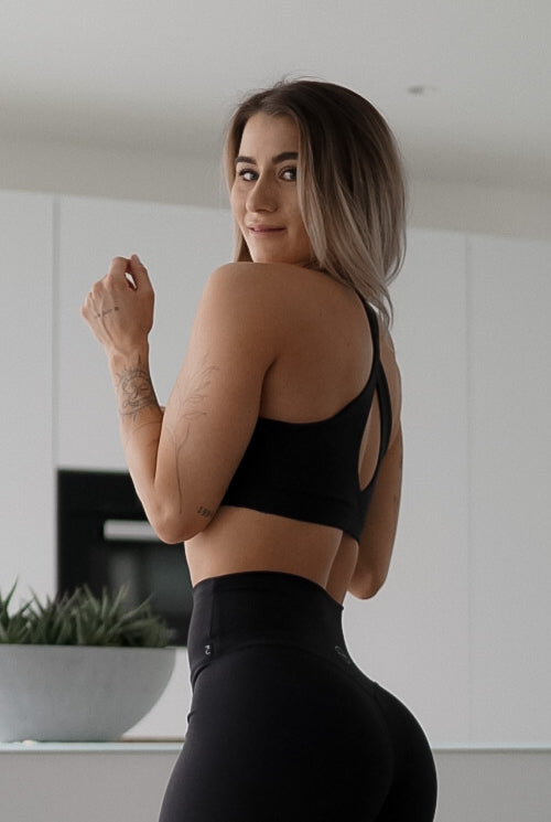 Womens Yoga Top - Black