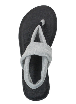 Yoga Mat Sole Sling Back Gray Sandals