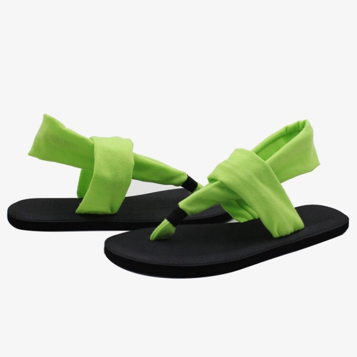 Yoga Mat Sole Sling Back Green Sandals