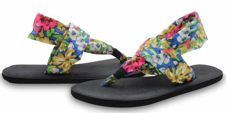 Yoga Mat Sole Sling Back Printed Sandals