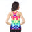 Colorful Tetris Print Women's Racerback Tank
