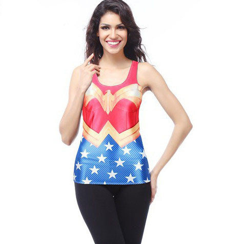 Wonder Woman Digital Print Women's Racerback Tank