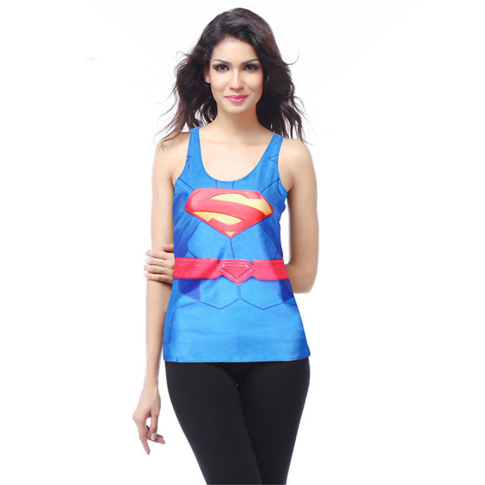 Super Woman Digital Print Women's Racerback Tank