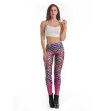 3D Printed Mermaid Colorful Women leggings
