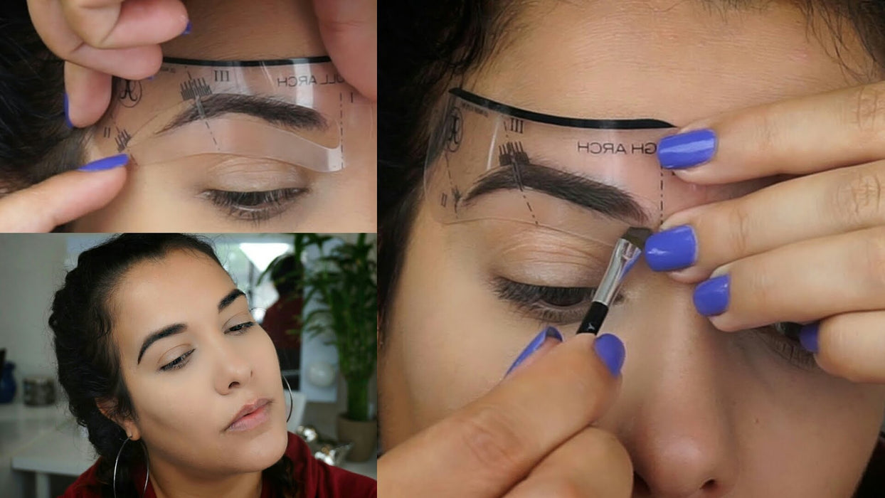 24 Styles Eyebrow Shaping Stencils