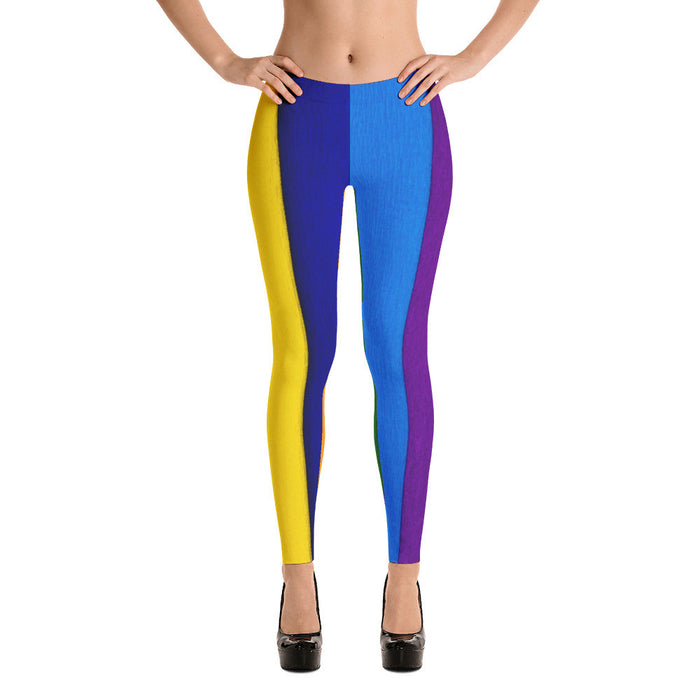 Colorful Crepe Paper Printed Women Leggings
