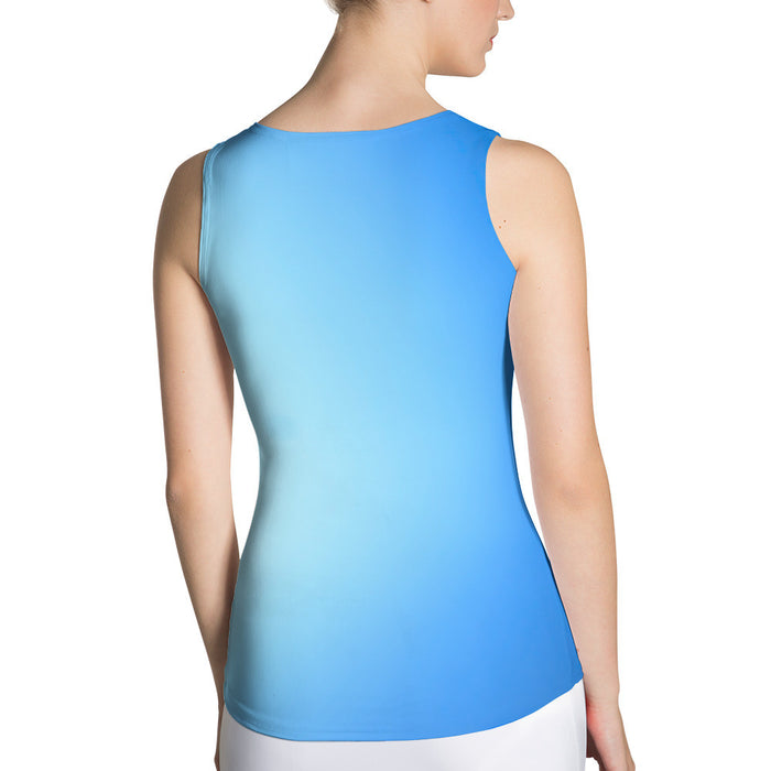 Kite In The Sky Ombre Sublimation Cut & Sew Women Tank Top