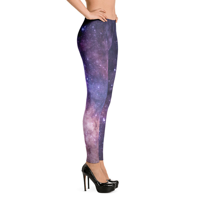 Galaxy Stars Artwork Printed Women Leggings