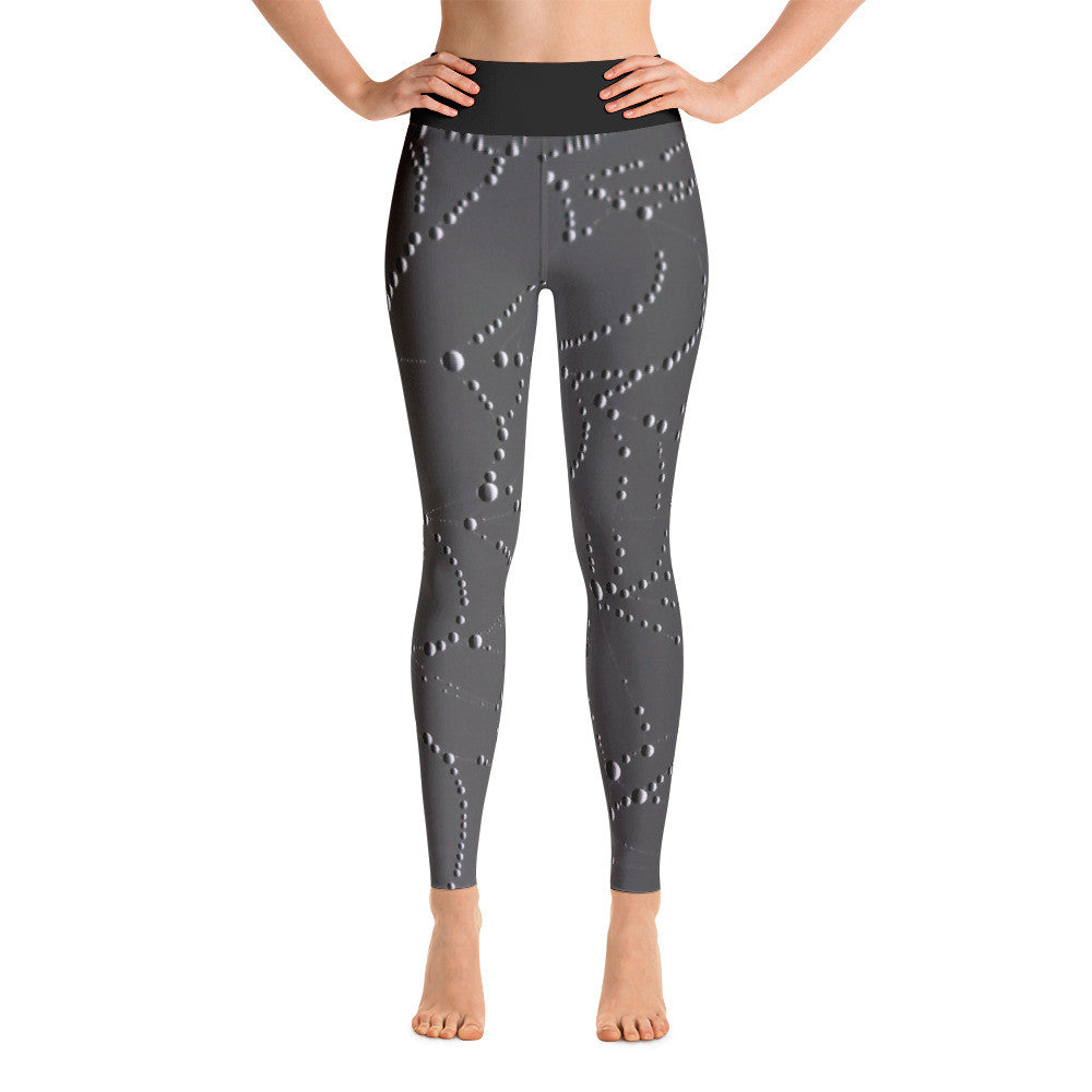 Droplet Web Artwork Printed Yoga Leggings