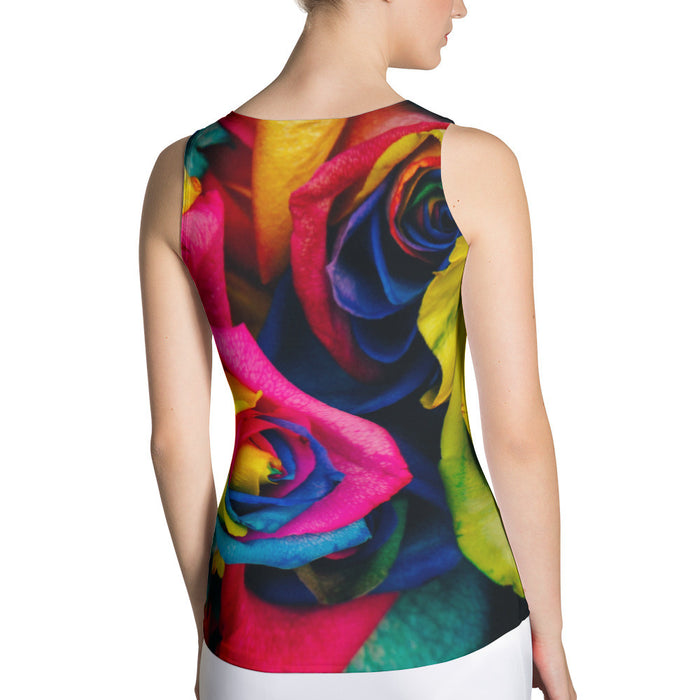 Colored Roses Sublimation Cut & Sew Women Tank Top