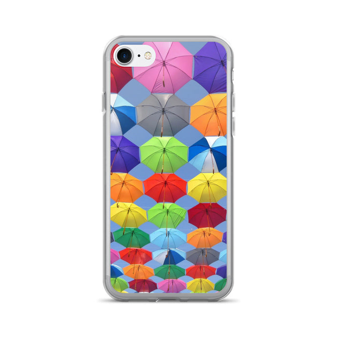 Colorful Umbrella Printed iPhone 7/7 Plus Case