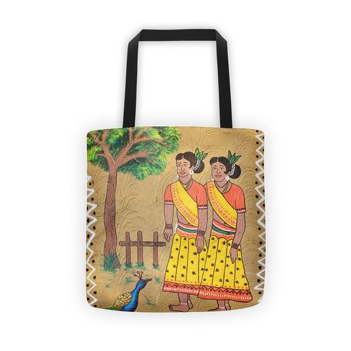 Village Girls Artwork Printed Tote bag