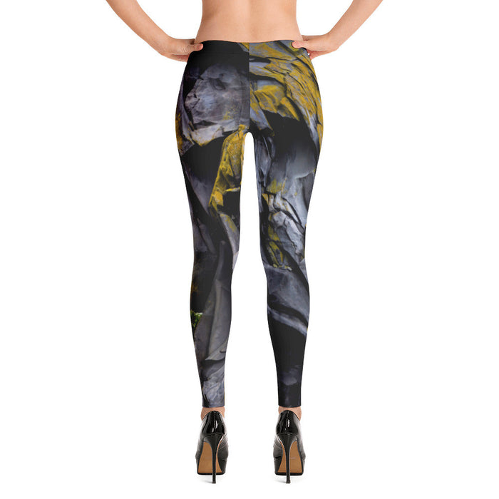 Rock Artwork Printed Womens Leggings
