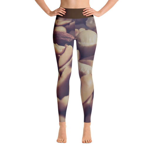 Almond Nuts Printed Yoga Leggings