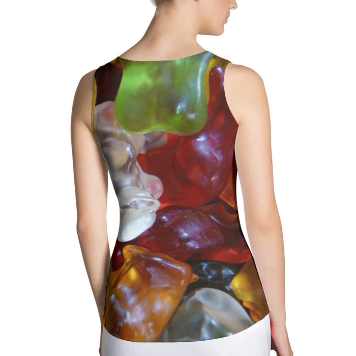Soft Jelly Printed Sublimation Cut & Sew Women Tank Top
